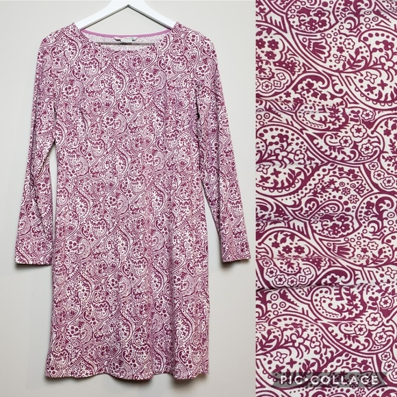 Boden Dresses & Skirts - Boden Paisley Cleo Long Sleeve Jersey Tunic